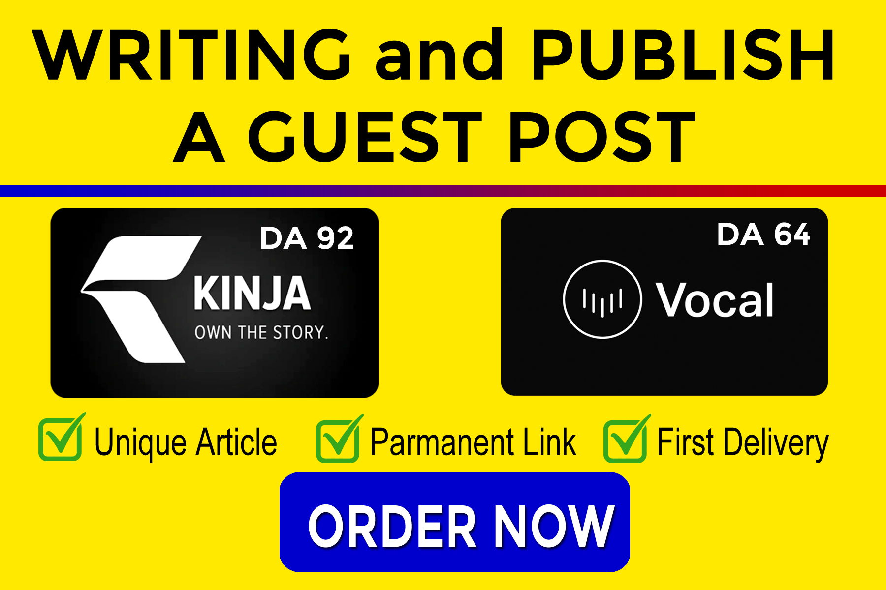 I Will Write and Publish Guest Post on Kinja and Vocal. Media SEO Backlinks