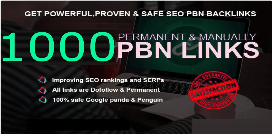 Get Unique 1000 PBNs Judi Backlinks Sites DA 50+ PA 40+ 500+ Words Article