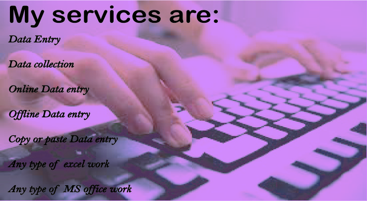 Any kind of data entry,  copy-paste work,  office & excel work