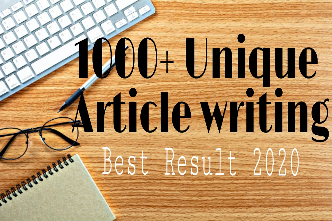 1000+ unique article writing for your website