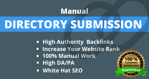 I will do 100 high authority directory submission