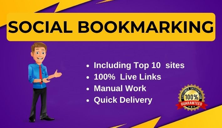 Manually 50 Social Media bookmarking on top bookmarks site