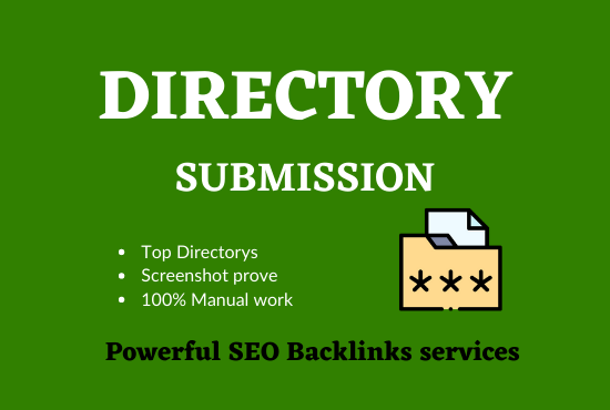 Manually 32 Directory Submission live links with instant approval on PR sites