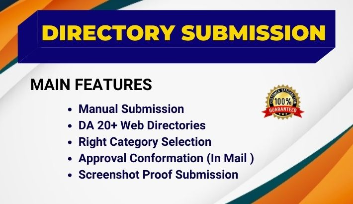 High Quality 60 Directory Submission Manual SEO Backlink to reach targeted traffic