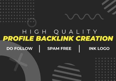 200 High Authority Profile creation backlinks manually