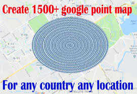 Create 1500 google point map citations manually