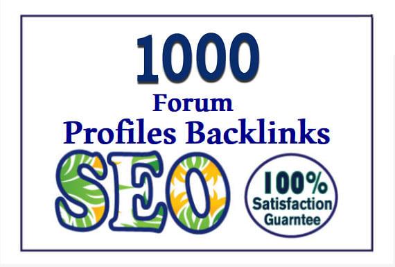Add create provide 1000 forum profile backlinks