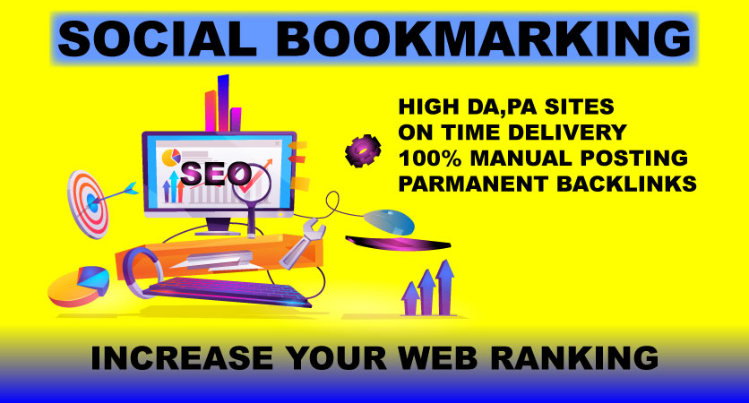 I will create manually 35 Social Bookmarking Submission with High-Quality Backlinks