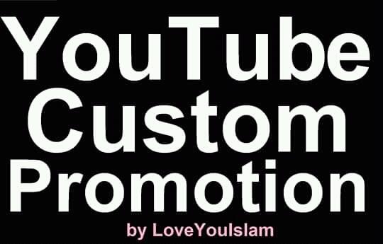 Add High Quality YouTube Custom Promotion Marketing