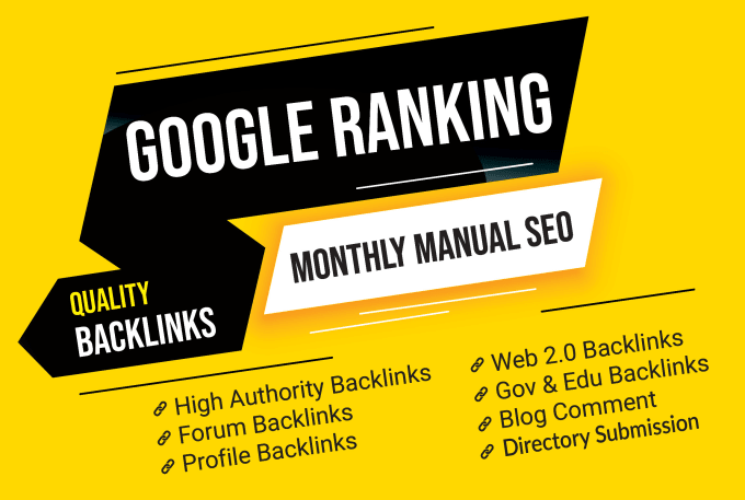 will improve your google ranking with manual SEO backlinks service