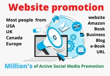 I will promote website on 2,00,000 active social traffic