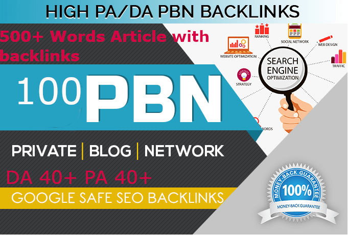 Build Unique 100 Sites DA 40+ PA 35+ PR 5+ Web 2.0 100 PBN