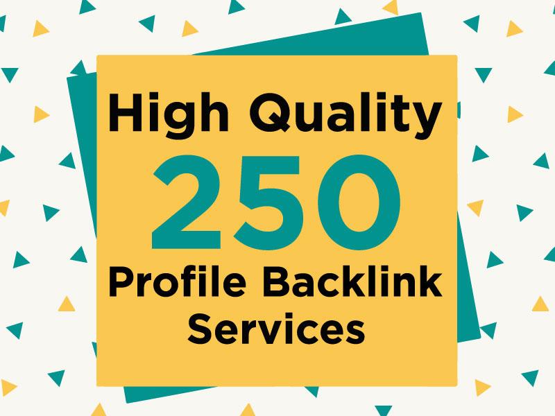 I Will Do Manually High DA 100 Profile Backlinks