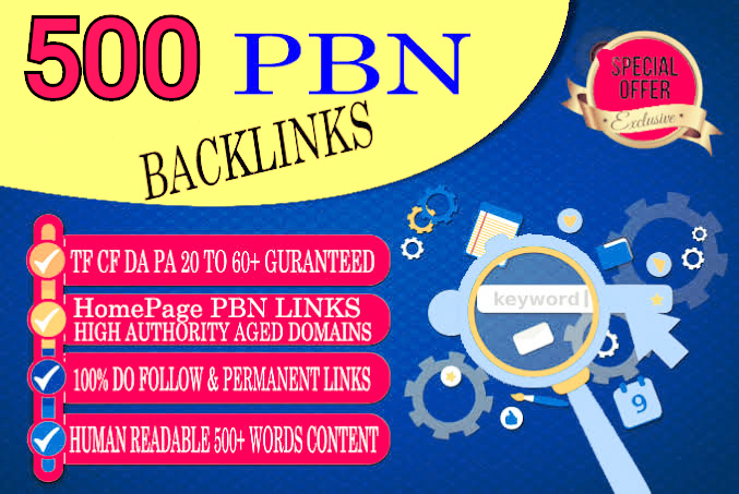 Compose and SUBMIT 500 WEB 2.0 PBN POST IN HIGH DA/PA sites
