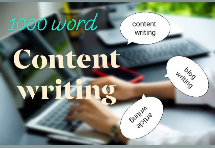 Get High Quality 1000 word seo Optimized content writing / article writing for your blog/ website