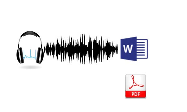 Transcribe your Audio to text and convert it to requested format