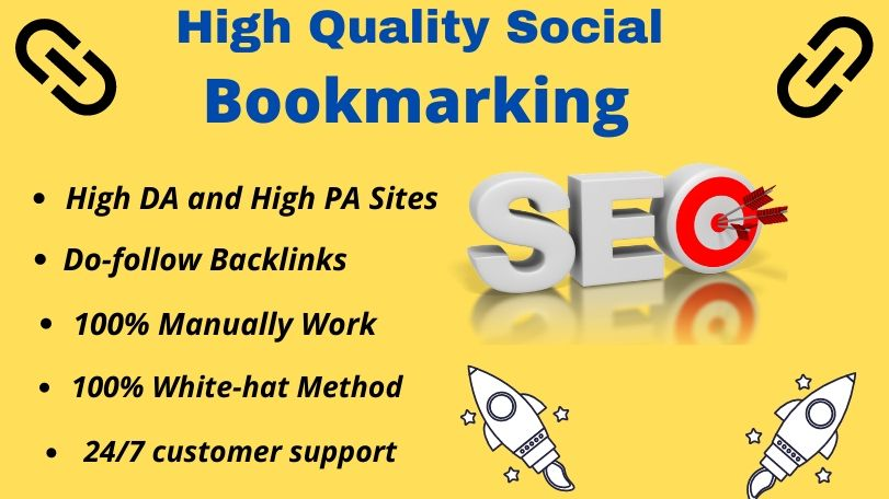I will provide 50 social bookmarking Do-follow backlinks for your website ranking.