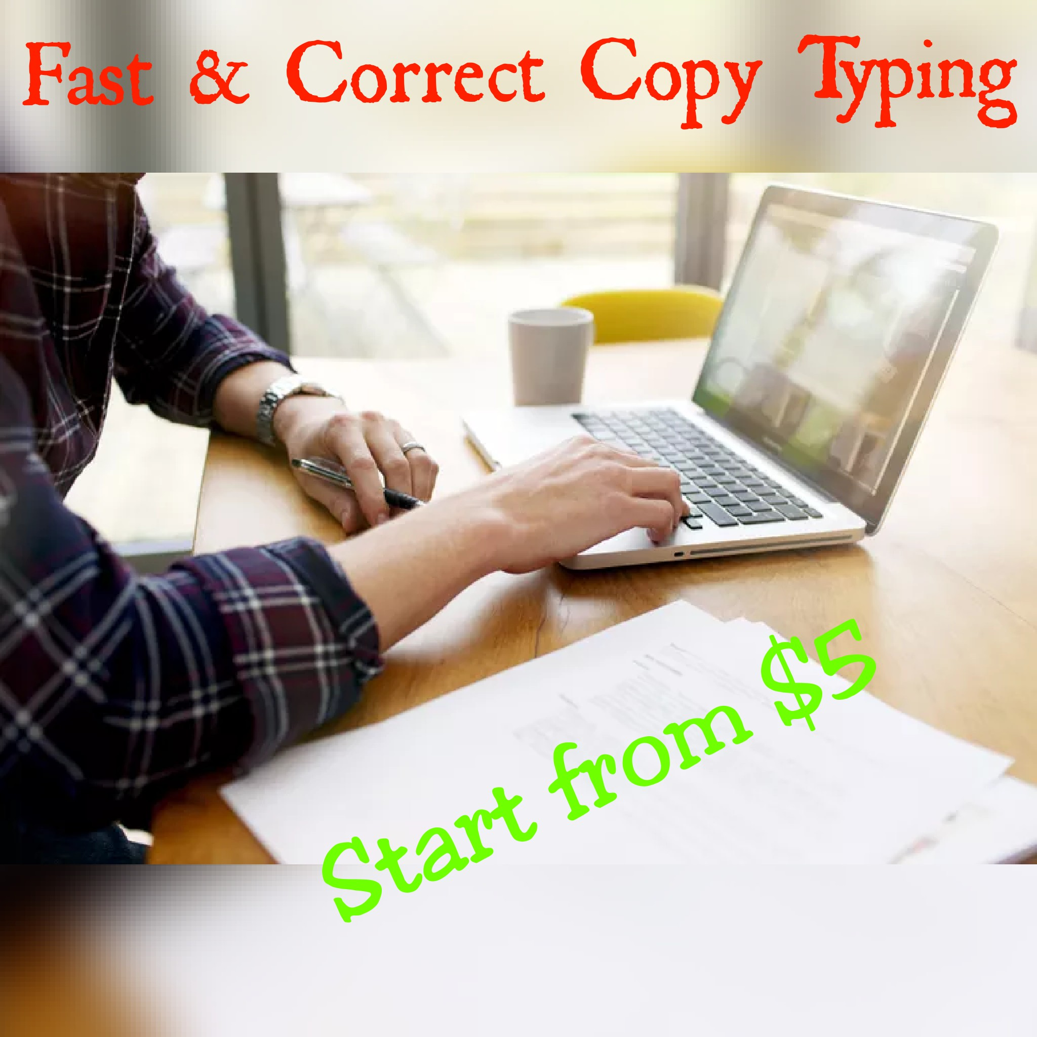 I will do Fast & Accurate Copy Typing and Data Entry