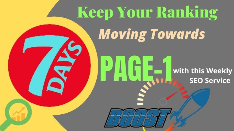 Weekly Ranking Boam SEO Package,  That Moving Your Ranking Toward PAGE-1