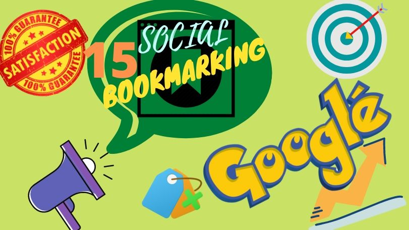 I will provide 15 high quality manual & dofollow-nofollow combination social bookmarking backl-inks.