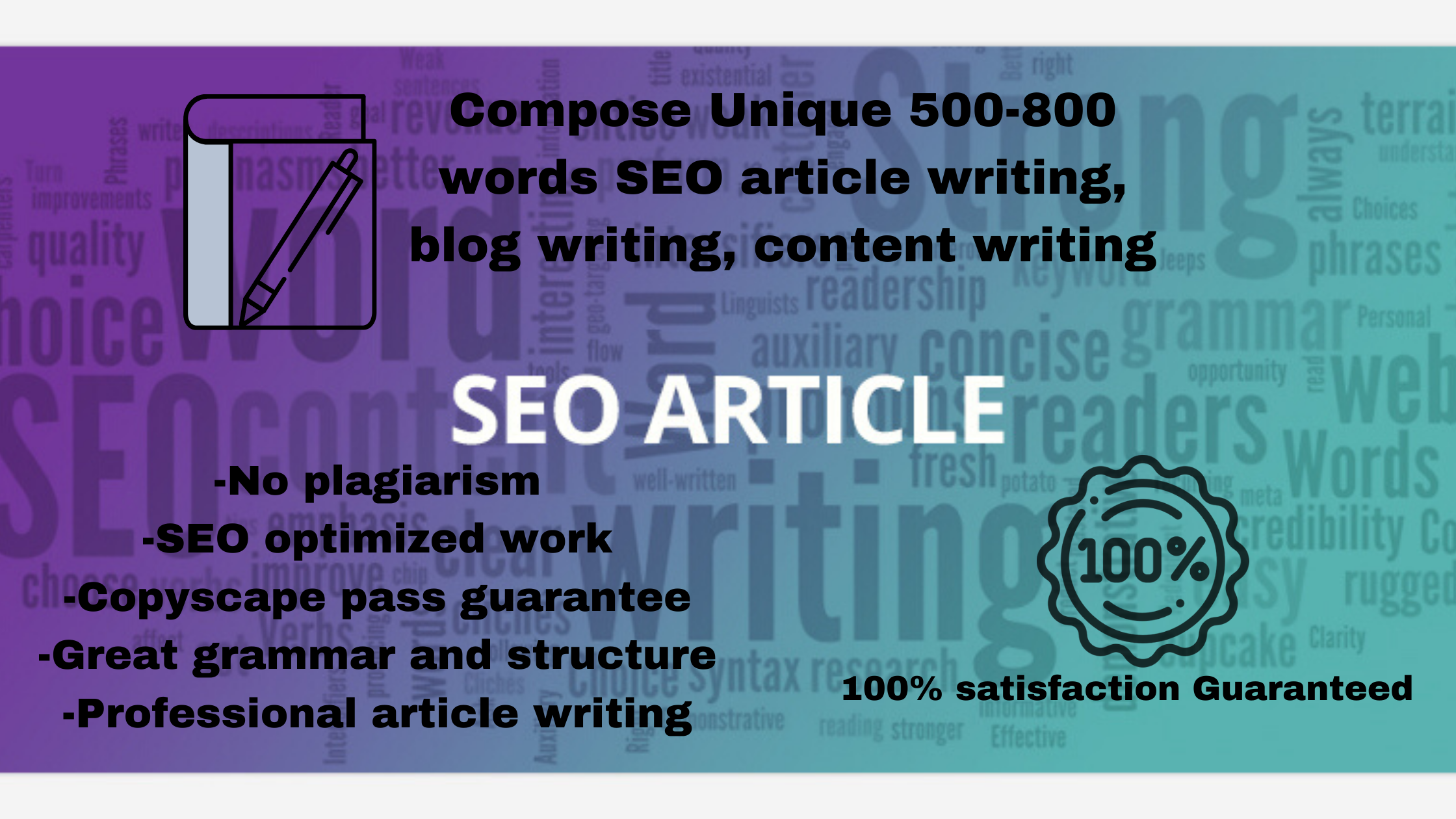I will Compose Unique 500-800 words SEO Friendly article on your website or blog