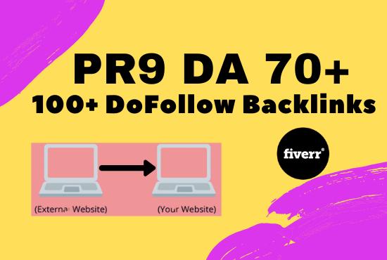 I will create 100+ dofollow backlnk DA 70+ for ranking your website in google