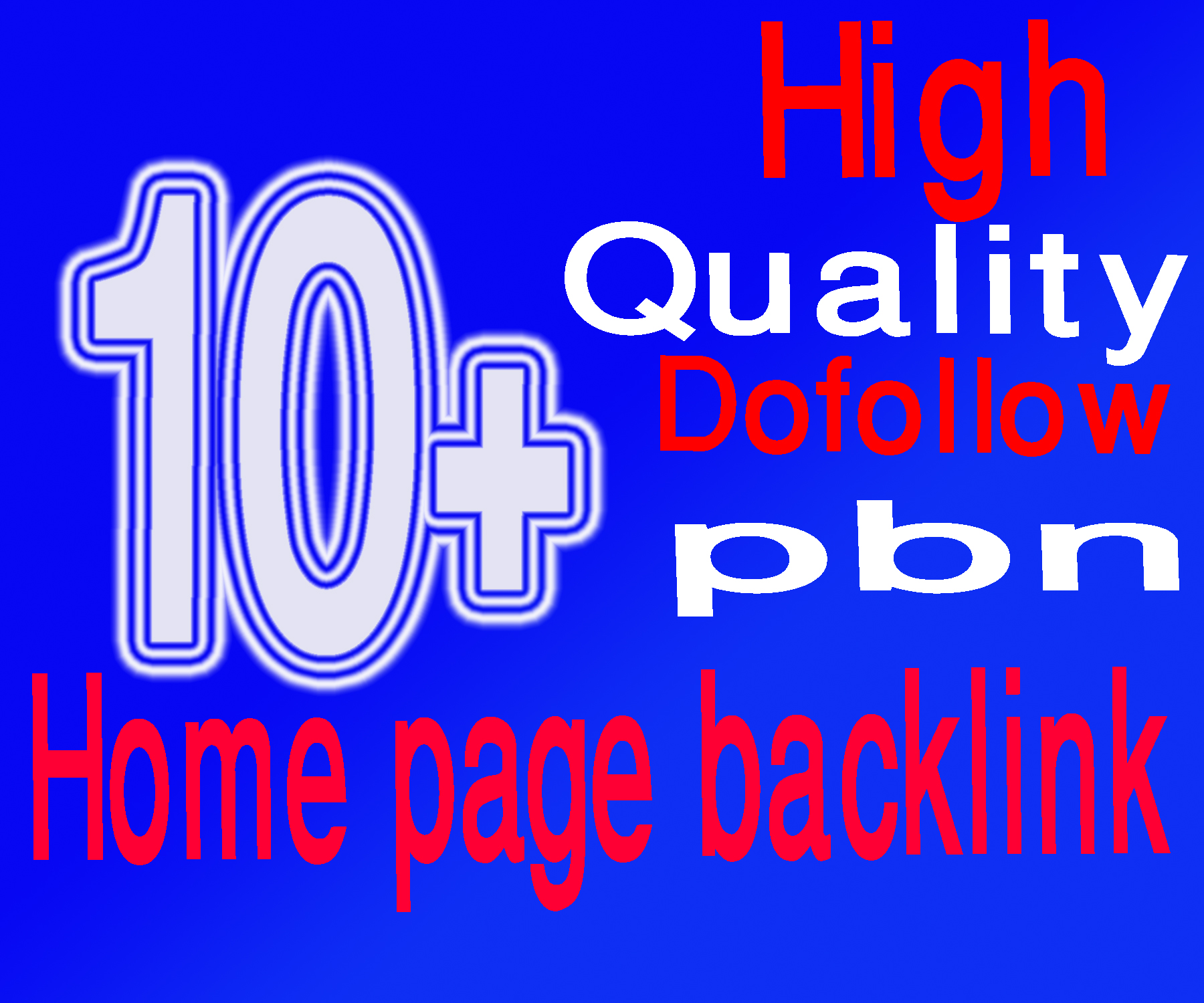 Build 10+ Manual DoFollow PBN Home Page Backlinks.