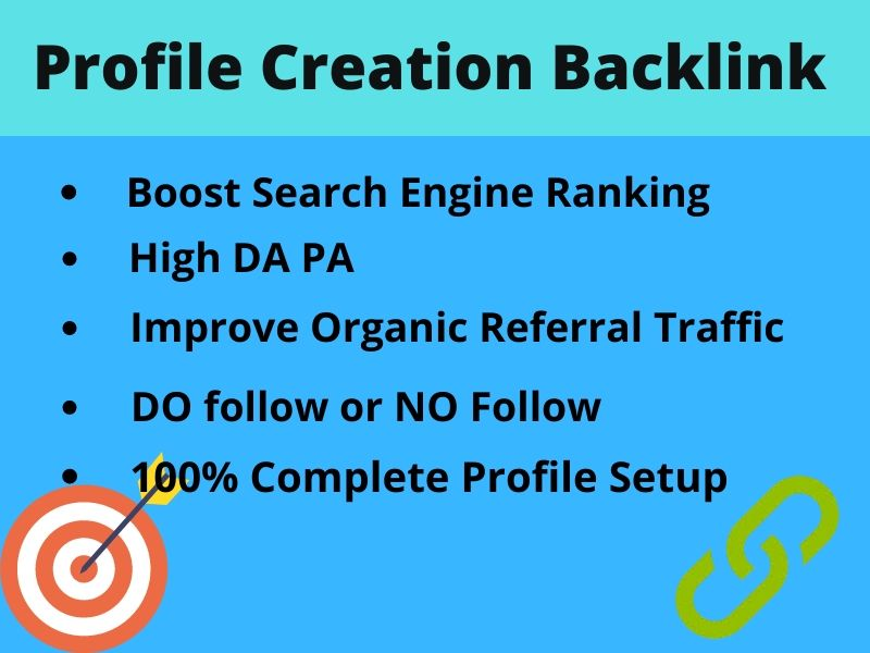 30 High Authority Profile Creation Backlinks All Link From 60+DA