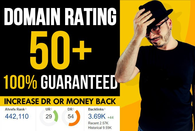 I will increase Ahrefs domain rating DR 50+ With 100 Gurantee