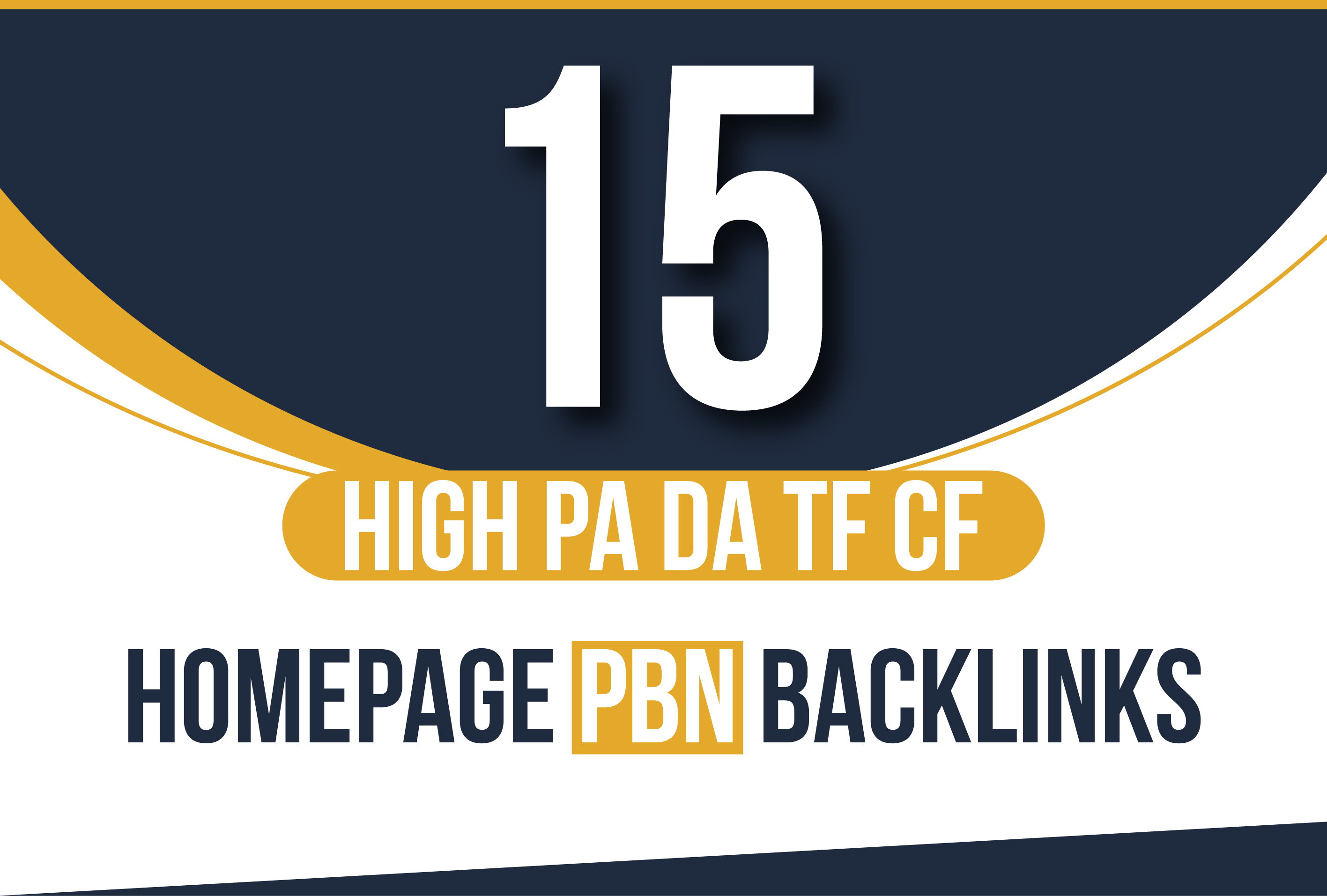 i will MANUALLY do 15 High PA DA TF CF HomePage PBN Backlinks