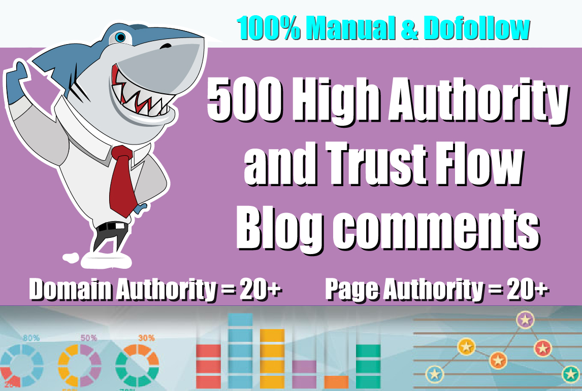 I Will Create 500 Dofollow Blog Comments Seo Backlinks on high DA PA and Actual Page