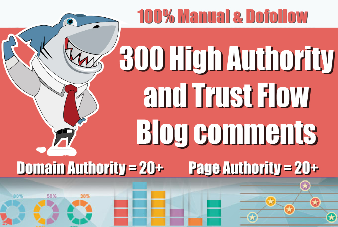 Create 300 Unique Domains Blog Comments Link Building Seo Backlinks on high DA PA and Actual Page
