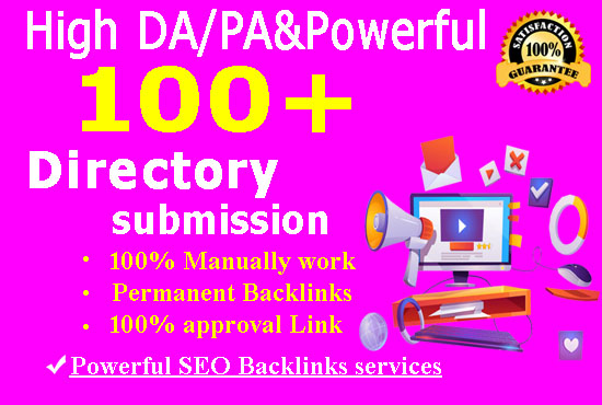 I will do 100 high-authority directory submission