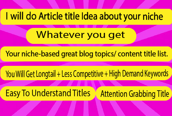 I will find your blog post title idea on your niche