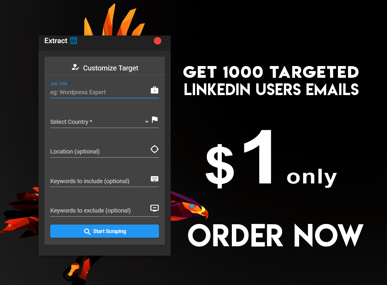Linkedin targeted users 1000 emails