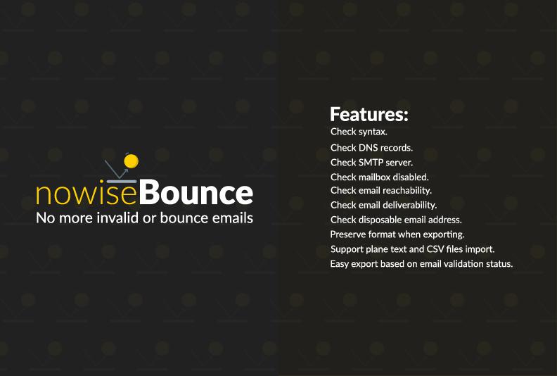 nowiseBounce - Deep email validator - Bounce checker
