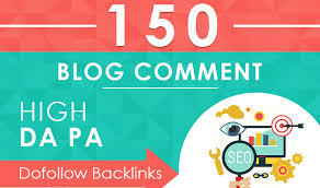 I will Create 150 Dofollow Blog Comments on high DA 20 to 90