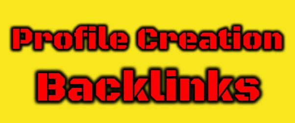 I will Create 150 High Quality Profile Creation Backlinks