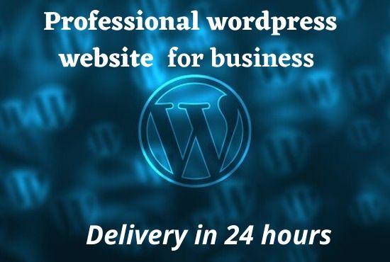 create a professional wordpress business website and design