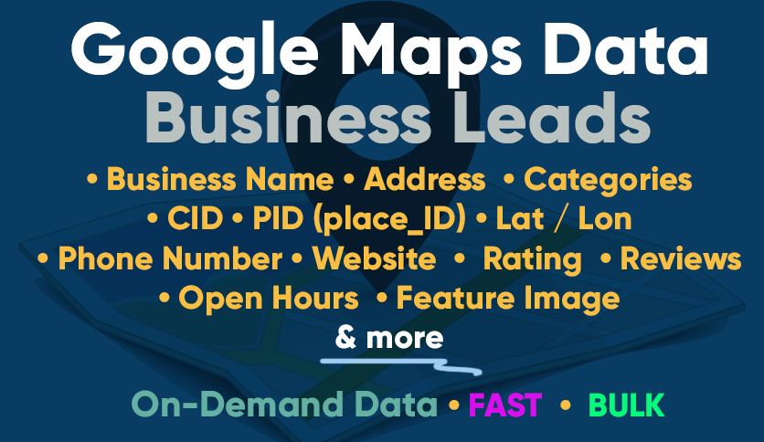 I will google map business data scraping