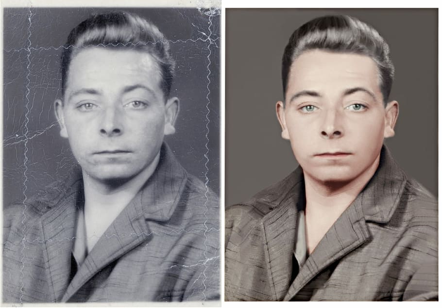 i can do restore,  retouch,  repair,  and colorize your old photoi can do restore,  retouch,  repair,  and