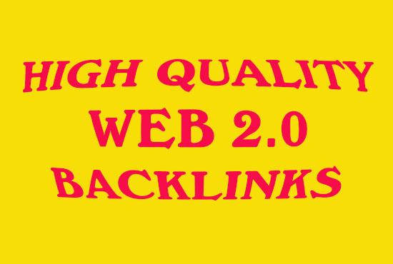 I will provide 50 off page SEO high quality Da Web2 backlinks