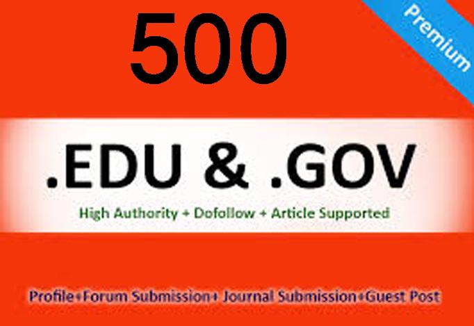 Get You 500 EDU backlinks your site from edu blogs