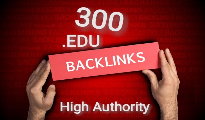 Do high quality Edu 300 unique SEO backlinks for google ranking.