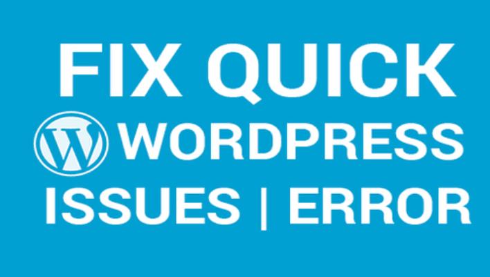 I will fix wordpress website error,  issues