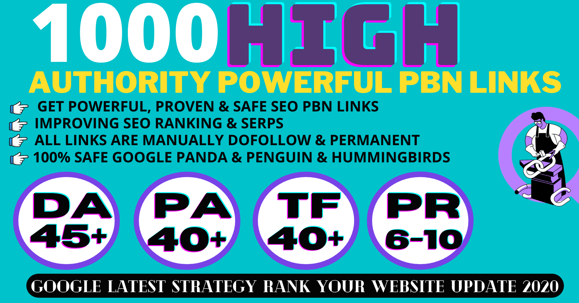 1000+ Permanent PBN Backlinks Web2.0 With High DA45+PA40+PR6+ DR 50+ Links Homepage Unique website