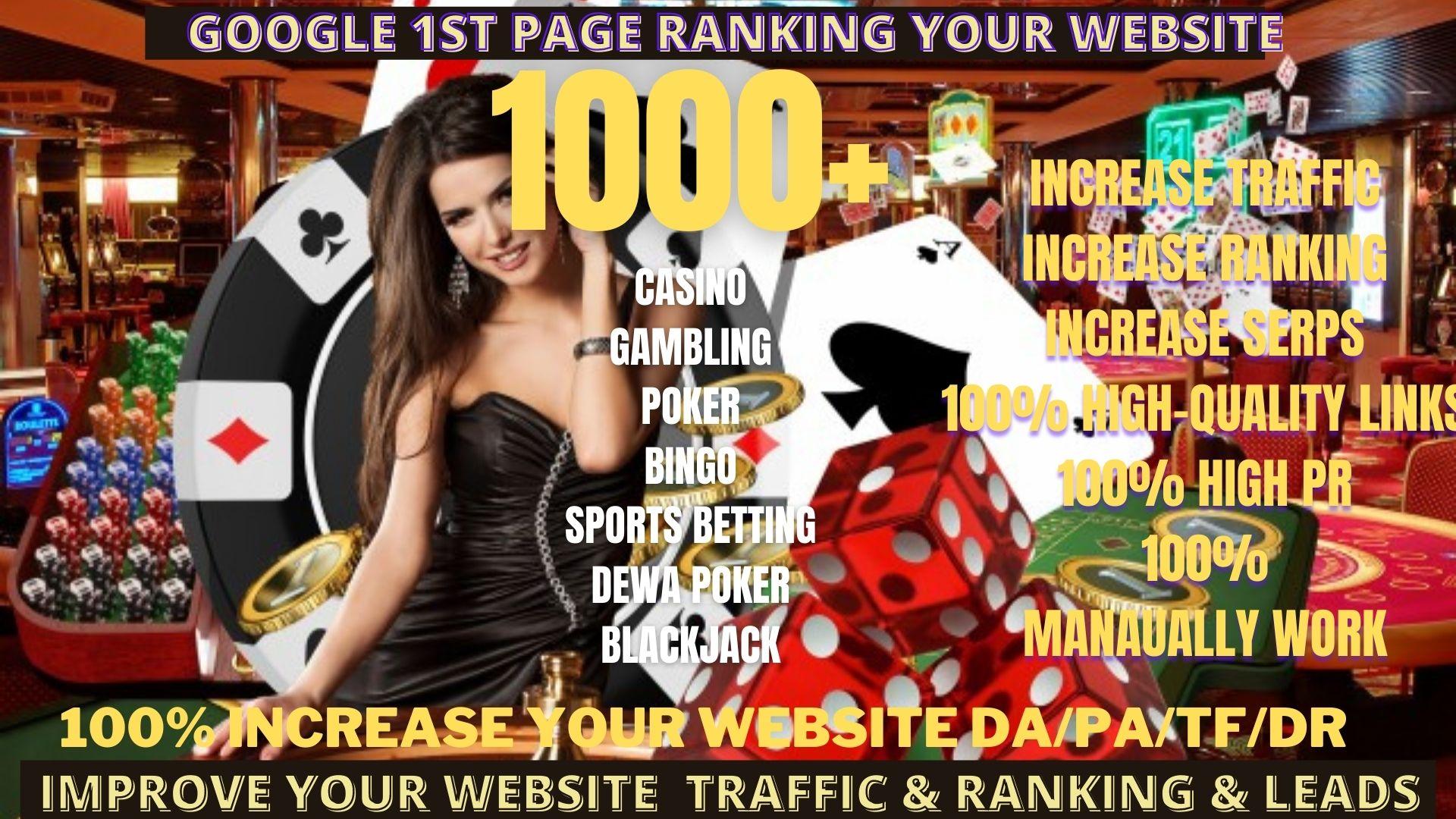 Get 1000+ permanent DA50+PA40+homepage pbn backlinks ufabet, casino, gambling, poker, judi related site