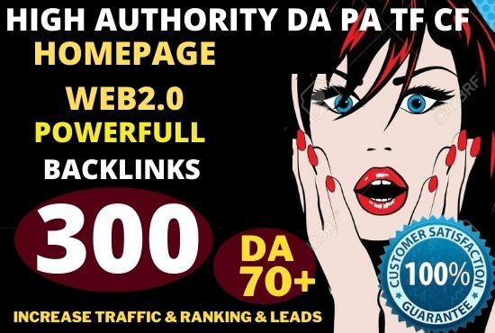 BEST 300+ PBN Backlink homepage web 2.0 with permanent dofollow & Trustfollow High DA/PA UNIQUE SITE