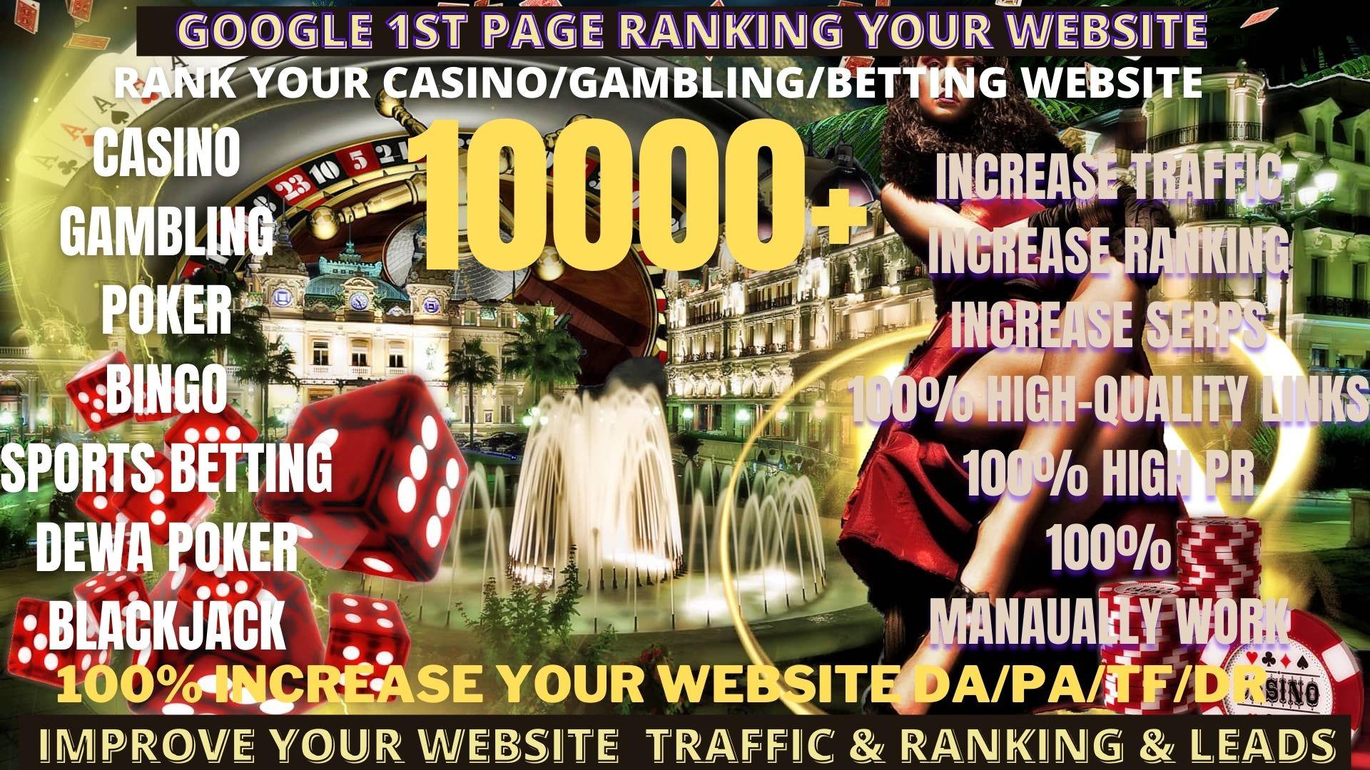 Get 10,000 permanent DA50+PA40+homepage pbn backlinks ufabet, casino, gambling, poker, judi related site