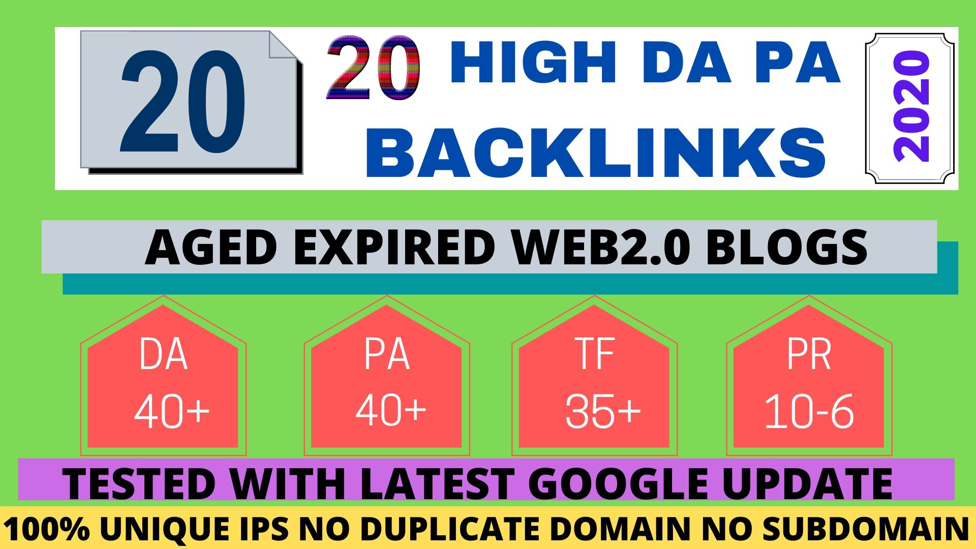 20+ Permanent PBN Backlinks Web2.0 With High TF CF DA PA Do-follow Links Homepage Unique website